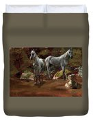 Study Of Wild Horses Duvet Cover