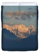 Stunning Countryside Of Northern Italy With The Alps  Duvet Cover