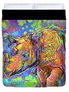 Sumatran Rhino Duvet Cover
