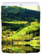 Summer In Norway Duvet Cover