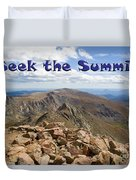 Summit Of Mount Bierstadt In The Arapahoe National Forest Duvet Cover