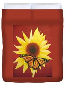 Sunflower Monarch Duvet Cover