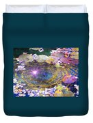 Sunglint On Autumn Lily Pond II Duvet Cover