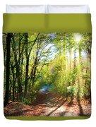 Sunny Autumn Path Duvet Cover