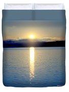 Sunrise 6 8 17 Malletts Bay Duvet Cover