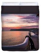 Sunrise At Saltburn Pier Duvet Cover