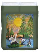 Sunrise In The Pelican State Duvet Cover