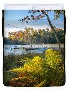 Sunrise In The Swamp Duvet Cover