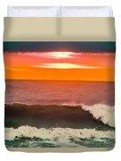 Sunrise Kissing Surf Duvet Cover