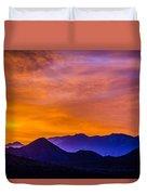 Sunrise Over Colorado Rocky Mountains Duvet Cover