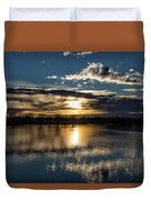 Sunrise Reflections On The Great Plains Duvet Cover