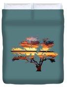 Sunrise Tree Duvet Cover