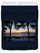Sunset - Oahu West Shore Duvet Cover