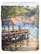 Sunset At Fishermans Park Duvet Cover
