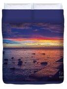 Sunset At Mauritius Duvet Cover