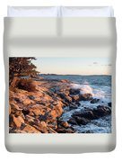 Sunset At Ocean Point, East Boothbay, Maine  -230204 Duvet Cover