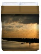 Sunset At Pass A Grille Florida Duvet Cover