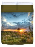 Sunset At The Field Of Dreams Duvet Cover
