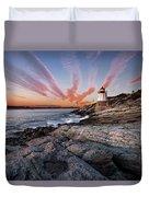 Sunset, Castle Hill Lighthouse  Duvet Cover