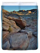 Sunset Comes To Valley Of Fire Duvet Cover