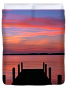 Sunset Dock Duvet Cover