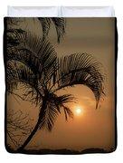 sunset Huong river Duvet Cover