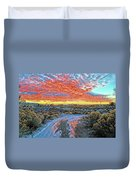 Sunset In El Prado Duvet Cover