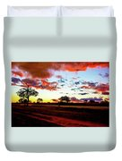 Sunset Landscape In Zambia Duvet Cover