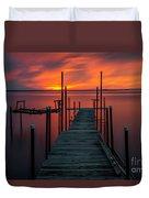 Sunset On The Bay Duvet Cover