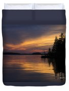 Sunset On The Chippewa Duvet Cover