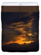 Sunset Over Daytona International Speedway Duvet Cover