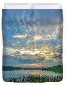 Sunset Over Water Duvet Cover