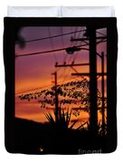Sunset Sihouettes Duvet Cover