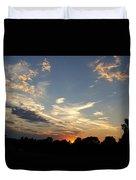 Sunset Sky Over Ohio Duvet Cover