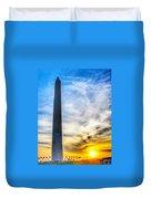 Sunset Washington Monument Duvet Cover