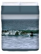 Surfing And Sailing Duvet Cover
