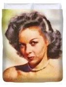 Susan Hayward, Vintage Hollywood Actress Duvet Cover