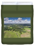 Suwalki Landscape Park, Poland. Summer Time. View From Above. Duvet Cover