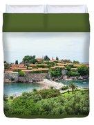 Sveti Stefan, Montenegro Duvet Cover