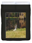 Swamp Bird Duvet Cover