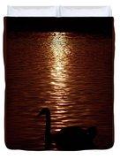 Swan Silhouette Duvet Cover