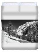 Swiss Winter Mountains Duvet Cover