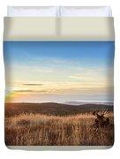 Taking In The Sunset Duvet Cover