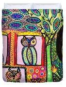 Talavera Owl Tree House Duvet Cover