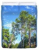 Tall Pine Trees Duvet Cover