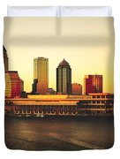 Tampa At Sunset Duvet Cover