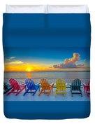 Tampa Bay Sunset Duvet Cover