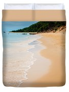 Tangalooma Island Beach In Moreton Bay.  Duvet Cover