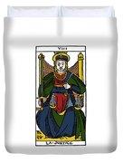 Tarot Card Justice Duvet Cover