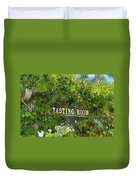 Tasting Room Sign Duvet Cover